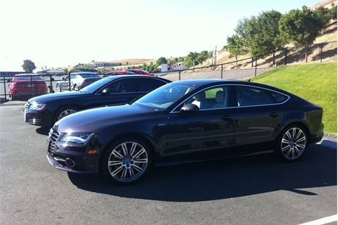 Audi provided attendees with a number of vehicles to test-drive, including the 2013-MY A7.
