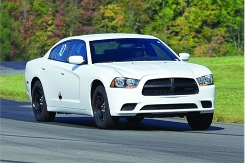 <p>Dodge Charger. Photo: Michigan State Police</p>