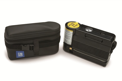 <p>The tire sealant and inflator kit for the 2012-MY Chevrolet Silverado 1500. <em>Photo Courtesy of PacePerformance.com</em></p>