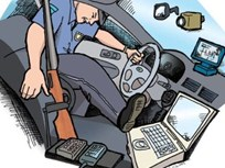 More Equipment, Less Space In Police Vehicles