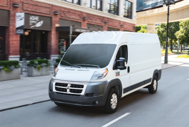 Ram offers the ProMaster City and full-size ProMaster (pictured) vans for 2018, which feature a front-wheel drive system. (Photo: FCA US)