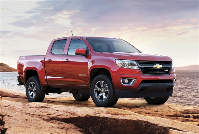 While the Chevrolet Colorado has sportier exterior styling, its Work Truck trim level is specifically designed for fleets, featuring a rear seat delete (on extended cab only) and vinyl seats. The Colorado's extended cab configuration is also available with a box delete, making it easier to upfit.