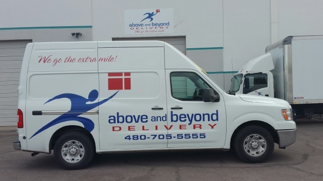 After adding it to the delivery fleet, the 2012 model-year Nissan NV3500 traveled more than 550,000 miles. (Photo: Above and Beyond Transportation)