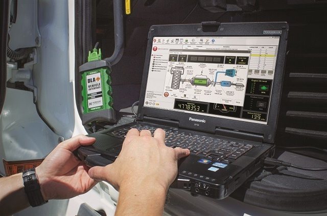 <p><strong>Monitoring system condition and tracking fault codes can help fleets avoid big problems with their aftertreatment systems.</strong> <em>Photo: Noregon</em></p>