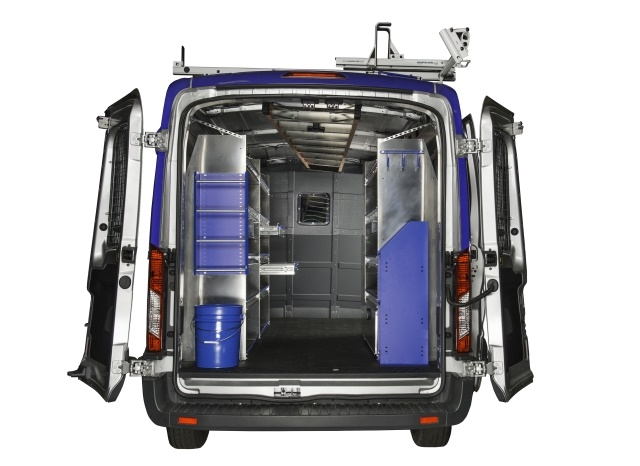 When spec'ing vans for upfits, such as tool storage, be sure to include drivers or technicians in all steps of the spec'ing process. (Photo courtesy of Masterack)