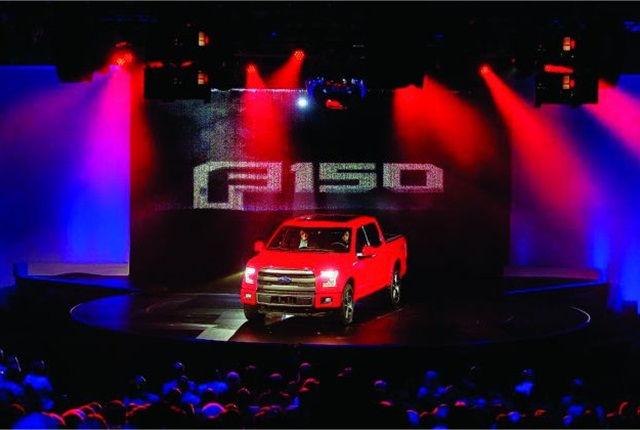 The all-new aluminum F-150 was introduced with Las Vegas glitz during the Ford Fleet Preview, which was held at the Bellagio Las Vegas Hotel.