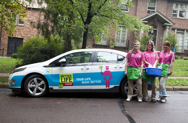 Photos courtesy of Better Life Maids.Better Life Maids recently added two Chevrolet Volts to its fleet.