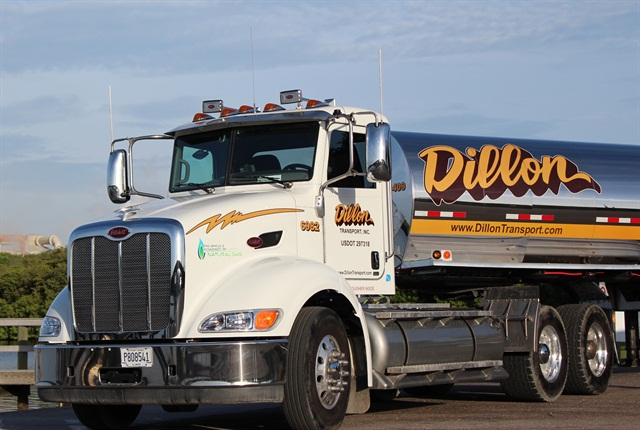 Dillon Transport uses natural gas as a way to attract new customers.