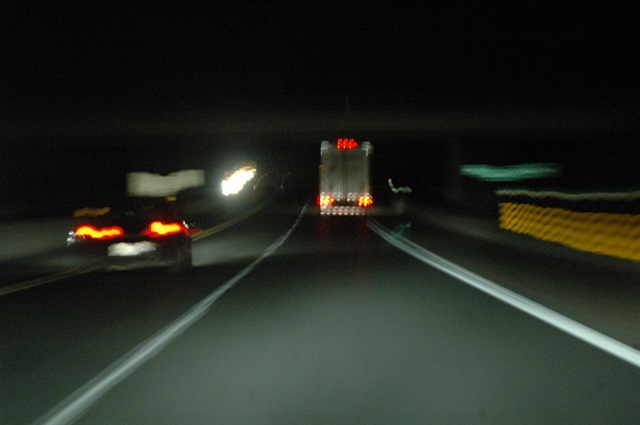 <p><strong>Driving at night can be challenging because of the body's biologically hardwired tendency to sleep when it's dark. Lighter traffic densities, however, mean it's statistically safer.</strong> <em>Photo: Jim Park</em></p>