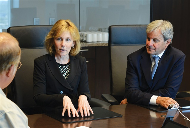 Photo of Kristi Webb and Brad Nullmeyer (right) courtesy of Element Financial Corp.