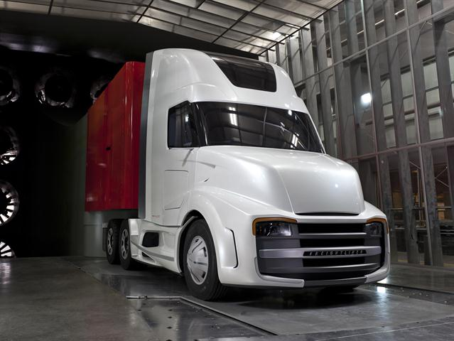 Freightliner's Revolution concept truck took some fairly radical approaches to designing a better truck for a regional or hub-and-spoke trucking operation.