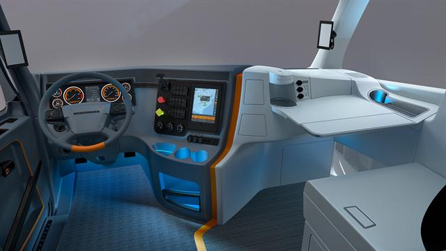 freightliner trucks interior. u003cpu003efreightlineru0026rsquos revolution concept truck also took on the design of freightliner trucks interior