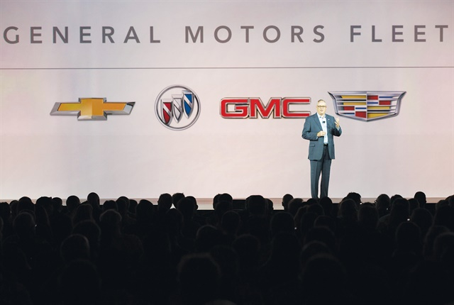 Photo of Ed Peper at the GM MY-17 Fleet Preview courtesy of General Motors.