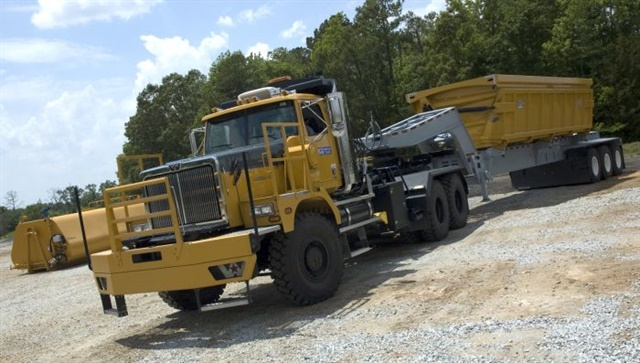 pstrongThe MBT-40 in action. Why buy a dump truck and a water truck when you can run both bodies on the same chassis?/strong/p