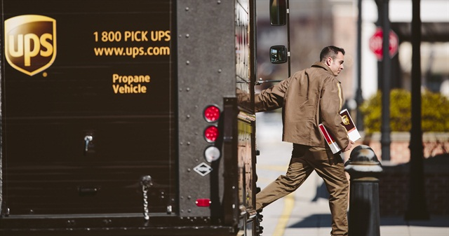 Alternative fuels such as propane are part of UPS' green strategy. Photo courtesy UPS.