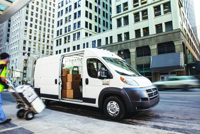 Among its features that have piqued the vocational market, the Ram ProMaster has a side cargo door, a low floor height, and a high roof. Test fleets were impressed by the van's handling, according to Ram.