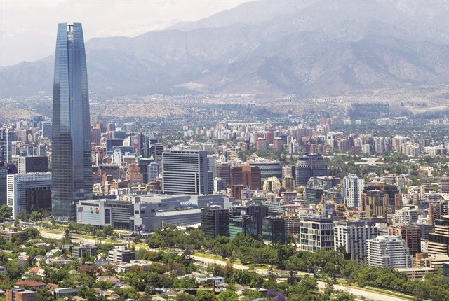 This view of Santiago, the capital of Chile. It is also the largest city in Chile and has a population of over 5 million. It is located in the country's central valley. Photo courtesy of istockphoto.