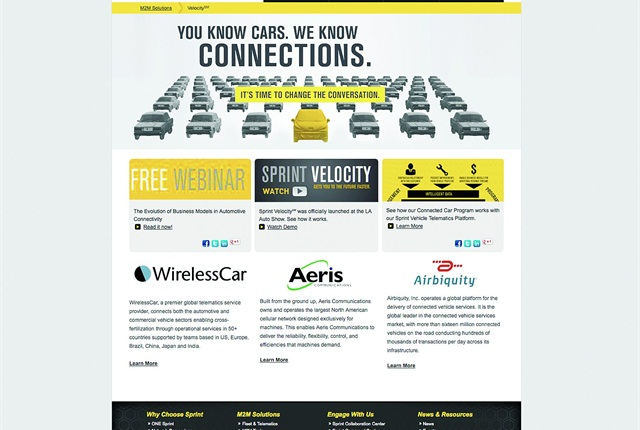 A screen capture of Sprint and Airbiquity's new solution.