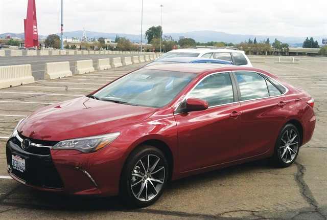 The Camry XSE offers the body style and perfomance feel shifting of the SE, but also boasts a wider wheel package and more sharply tuned suspension and steering. Photo by Adam Pringle.