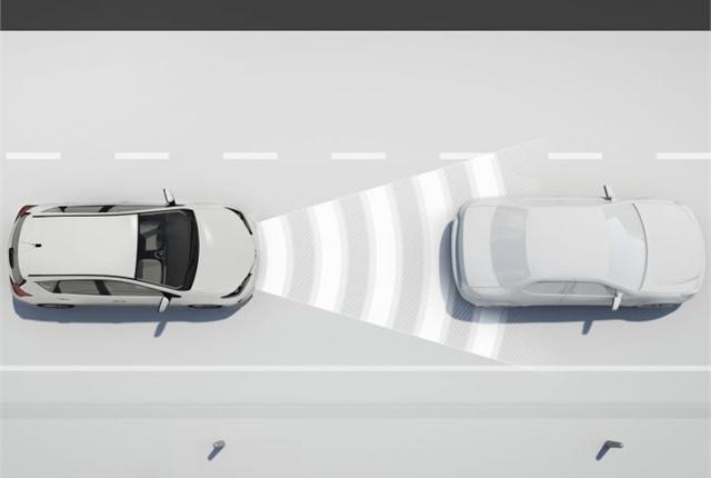 Photo of dynamic radar cruise control courtesy of Toyota.