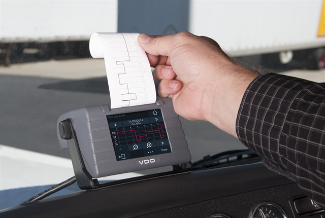 <p><strong>One solution to the question of the transfer of data to enforcement officials? Print the logs, as Continental's VDO Road Log does</strong>. <em>Photo: Continental</em></p>