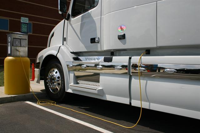 Volvo was the first truck maker to offer built-in shore power systems. Shore power can be used on its own or in conjunction with other idle reduction systems on the market.