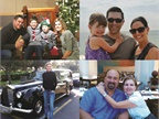 <p>Clockwise from top left: Brian Wielgosz of Sanofi with his family; Dave Tosh of Benco Dental with his wife and daughter; Clay Gaudet of AutoZone with his wife; and Lee Pierce of Weatherford posing with a Rolls-Royce hearse.</p>