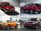 (clockwise upper l. to r.) Photos of 2017 Escape, 2018 Equinox, 2015 Jeep Cherokee, 2017 Rogue courtesy of Ford, GM, FCA, and Nissan.