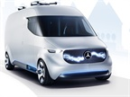 Mercedes Benz vans has developed potential logistics concepts involving electric vans, robots, drones, and smart autonomous loading systems. Photo: Mercedes-Benz