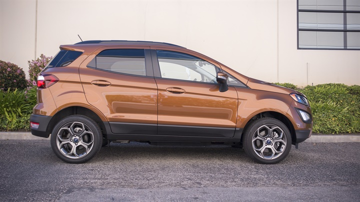 The EcoSport is 161.3 inches long and sits on a 99.2-inch wheelbase