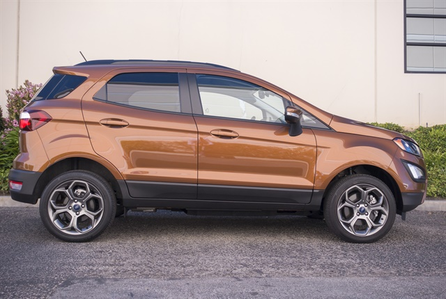 The EcoSport is 161.3 inches long and sits on a 99.2-inch wheelbase and is positioned below the Escape.Photo by Vince Taroc.