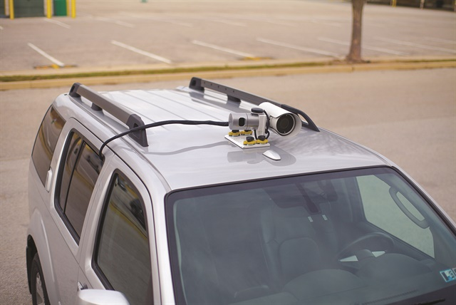 Vehicle Installed Digital Measuring Instruments : Gallery owl magnet mounts on the roof of a pilot car and