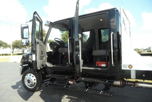 International TerraStar crewcab has considerable interior space. Rear seat has room and belts for four people.