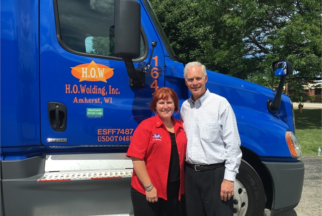 pstrongSen. Ron Johnson got a glimpse of life on the road with Julie Matulle./strong emPhoto courtesy Women in Trucking./em/p