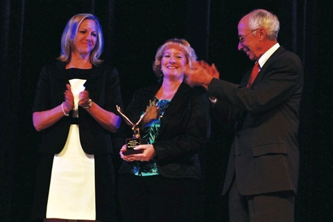 <p>Miller (center) recieved the award for 2012 professional Fleet Manager of the Year.</p>
