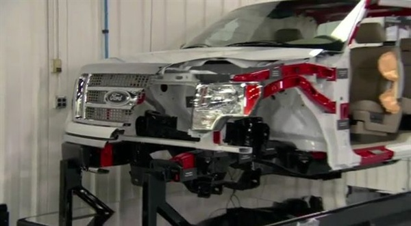 <p>This still taken from Ford's video on aftermarket crashparts.</p>