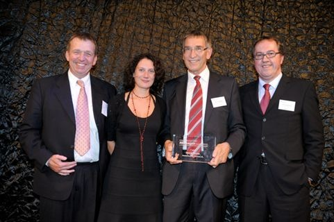 <p><span>(L-R) Claus-Peter Krüger (Shell), Caroline Thonnon (Fleet Europe),  Werner Berger (Nestlé) and Hans-Georg Lütz (Mercedes-Benz Cars). Berger  won International Fleet Manager of the Year 2009. </span></p>