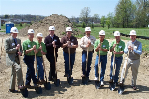 Smith Dairy Trucking staff were joined by CNG station designers and construction supervisors to break ground for the Ohio's first business-installed CNG fueling station open to the public.
