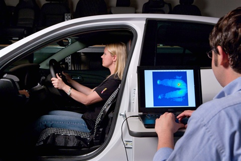 To improve seat comfort, the automaker took snapshots of a seated individual's pressure distribution on a seat's surface.