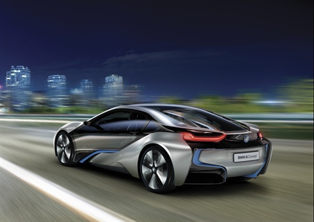 The BMW i8 concept, part of the company's new i sub-brand.