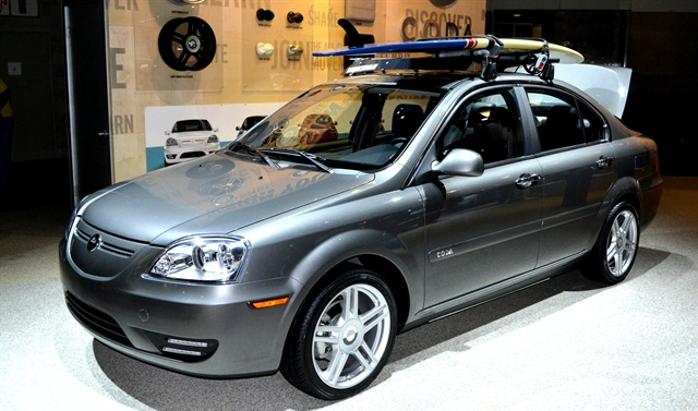 Photos by Joanne M. TuckerThe CODA Sedan prototype that was on display at the 2011 LA Auto Show.