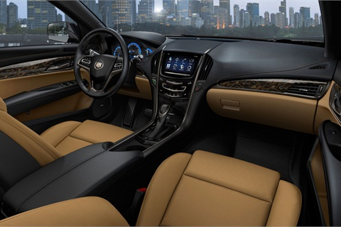 The new ATS offers seven interior and trim combinations and Cadillac's new CUE infotainment system.