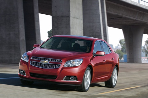 The 2013-MY Chevrolet Malibu LTZ edition, one of the Malibu models that comes in the new turbo version.