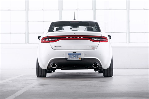 The Dart features a number aerodynamic styling features, including an integrated decklid spoiler that's designed to optimize the air wake behind the vehicle.