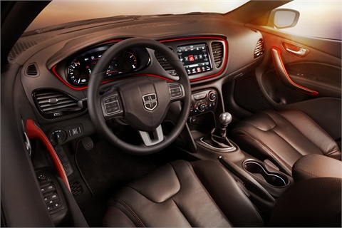 The Dart's interior is designed with easy access to controls in mind.