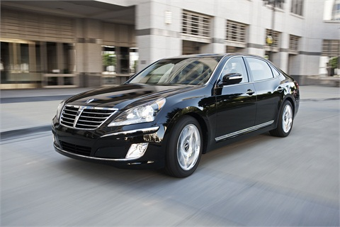 The 2013-MY Hyundai Equus.