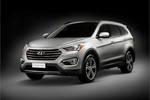 The Santa Fe (as opposed to the Santa Fe Sport) is a seven-passenger model with three rows orf seats.