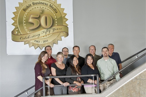 Top row, left to right: Chris Wolski, Brian Peach, Sherb Brown, Mike Antich, Ed Bobit. Front row: Lauren Fletcher, Tracey Tremblay, Grace Suizo, Armie Bautista, Greg Basich. Not pictured: Bob Brown, Eric Bearly.