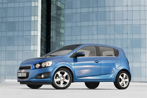 In Europe, it's sold as the Aveo; in North America it's the Sonic.