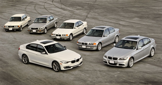 The lineup of new BMW vehicles.